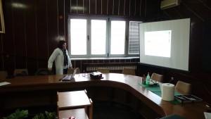 Dr Elena M. Matic oftalmologist explaining Glaucoma Presentation