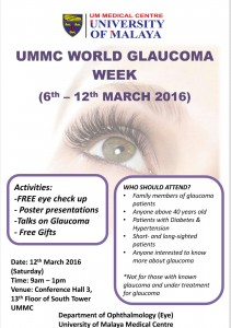 Come join us to beat invisible glaucoma!