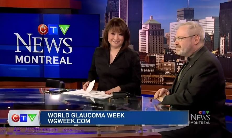 WGW at CTV News at 12. Montreal: Mutsumi Takahashi, Anchor and Marc Renaud, McGill Glaucoma information Centre