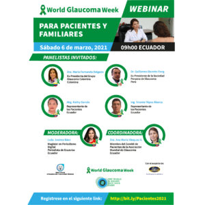 """WEBINAR FOR PATIENTS AND THEIR FAMILIES """"LIVING WITH GLAUCOMA"""""""
